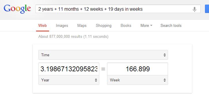 Google ile zaman birimlerini dönüştürmek