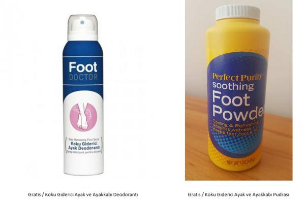 Ayak Deodorantı ve Ayak Pudrası